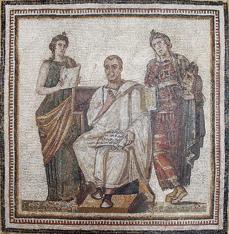 Wergiliusz w Muzeum Bardo w Tunezji