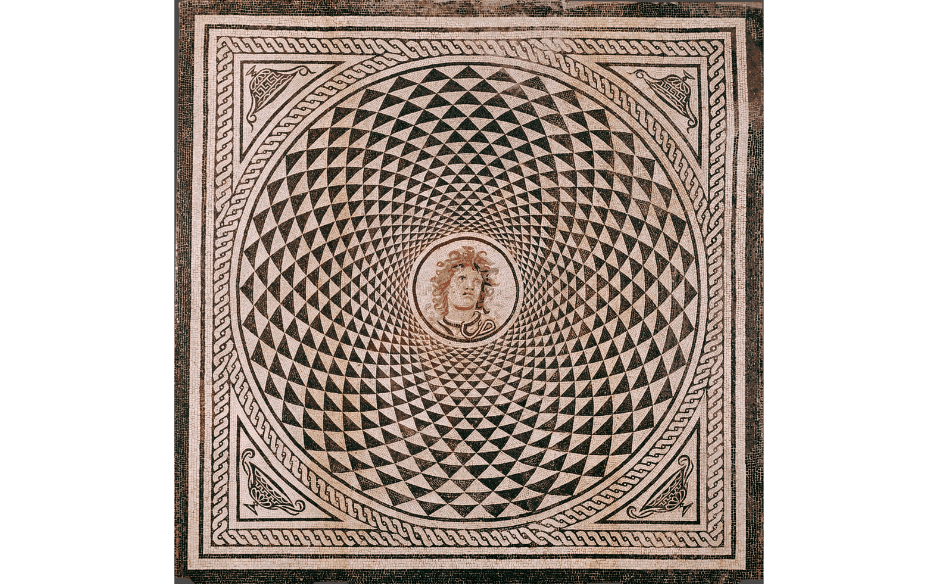Floor mosaic with the head of Medusa, The J. Paul Getty Museum