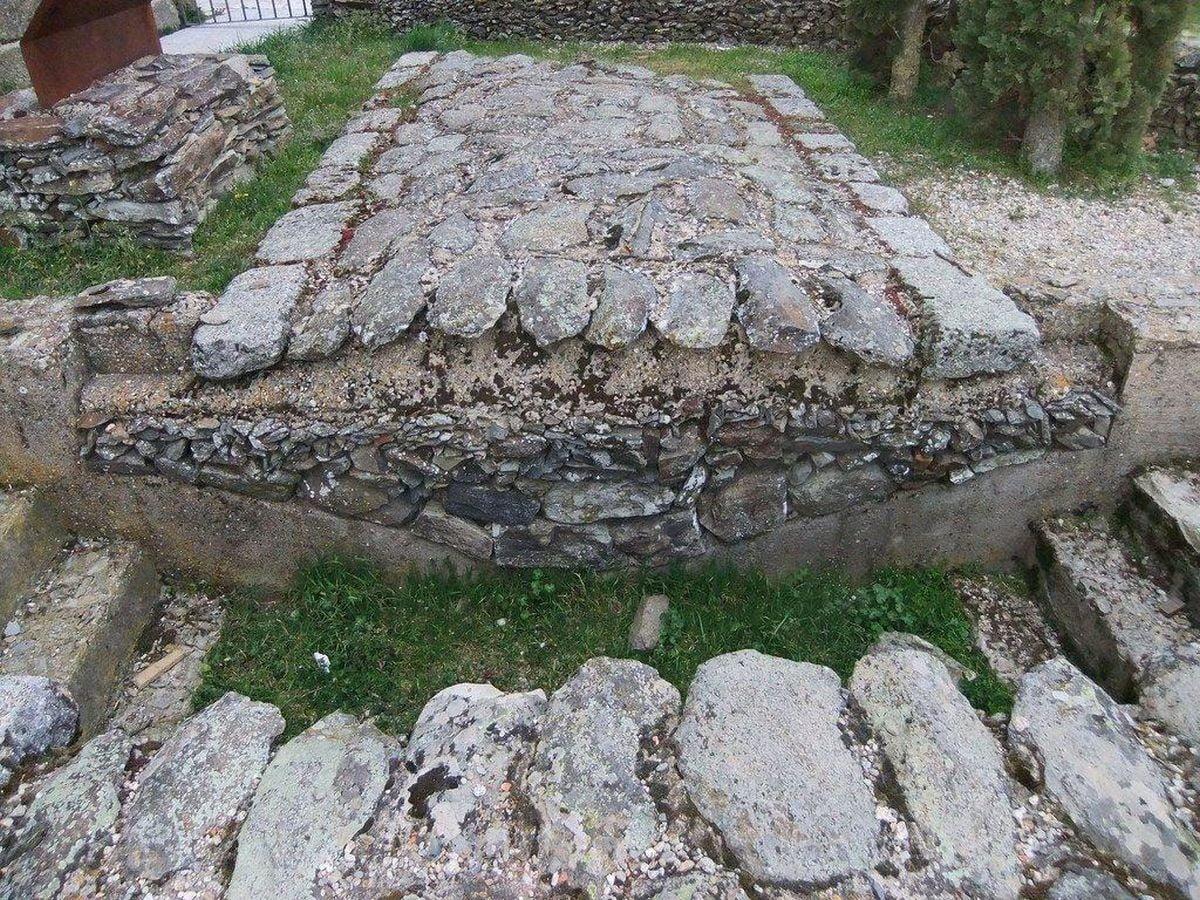 Przekrój rzymskiej drogi