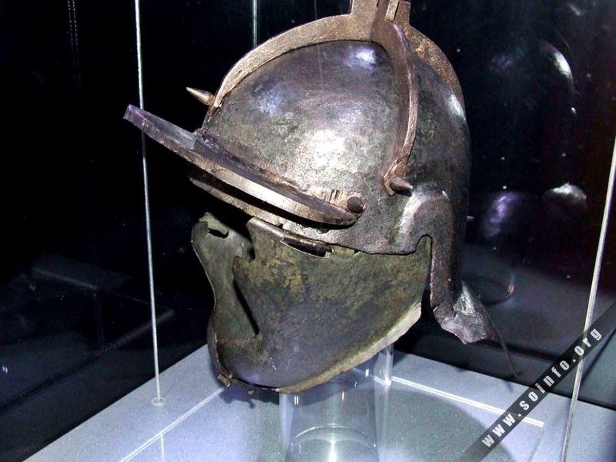 Hełm rzymski z II wieku n.e.