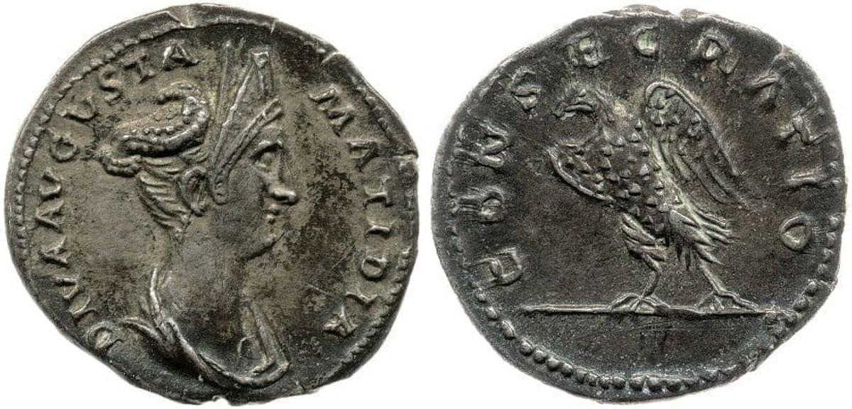 Salonia Matidia na rzymskiej monecie