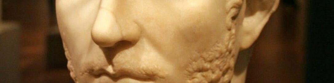 Roman bust of emperor Gallienus
