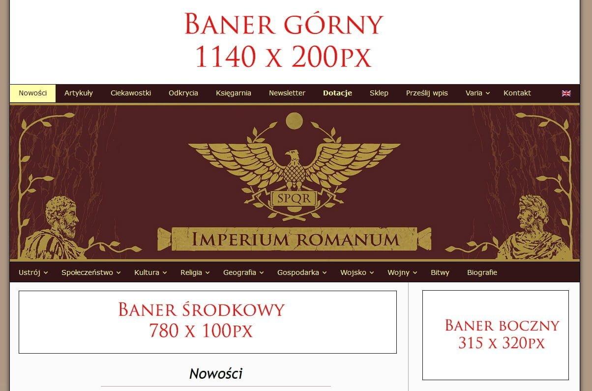 Reklama banerowa na IMPERIUM ROMANUM