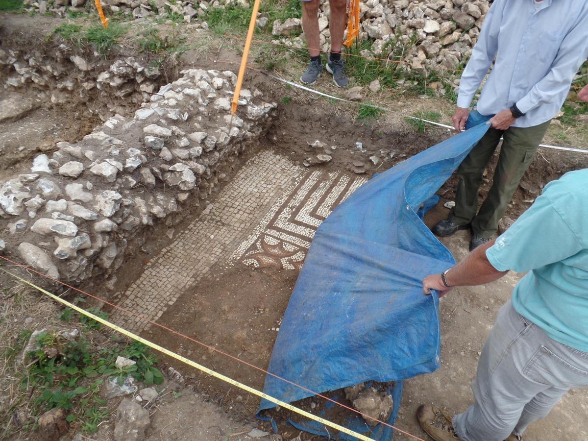Roman villa was discovered in Dorchester