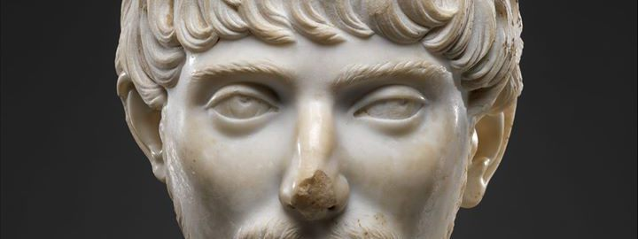 The head of a young Roman with a short beard