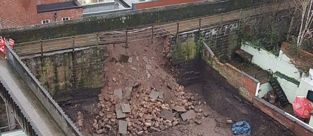 Rzymskie mury uległy zawaleniu w Chester