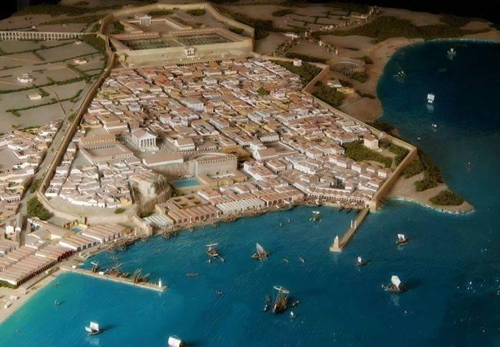 Model rzymskiego miasta Tarraco (obecna Tarragona, Hiszpania)
