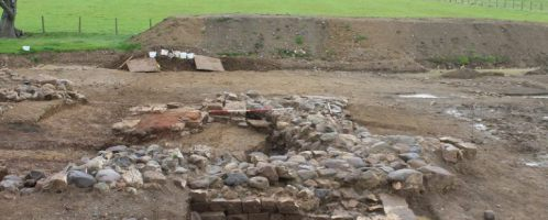"A skeleton and a ""factory"" for heating plates from Roman times  were discovered in northern England"