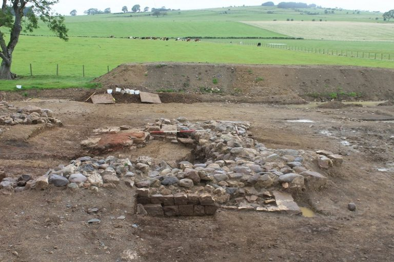 "In northern England, skeleton and ""tile factory"" from Roman times were discovered"