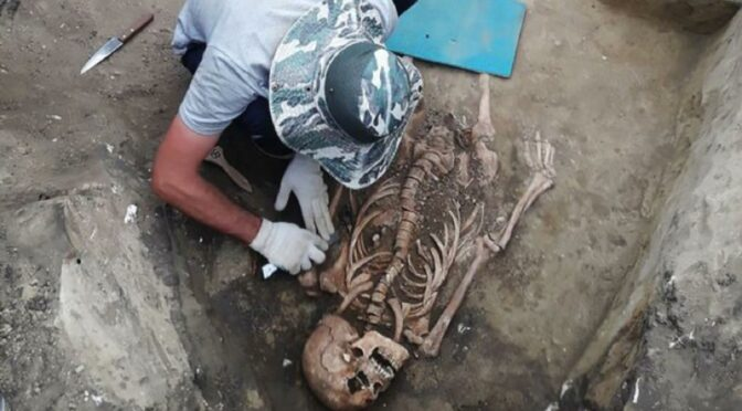 In Caucasus human remains with Roman jewelry were found