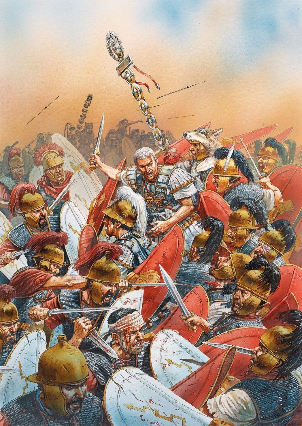 Cezar w bitwie