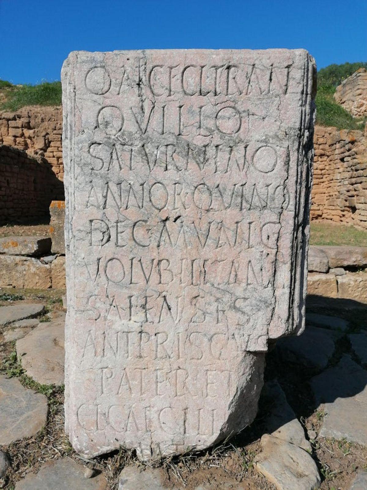 Rzymska stela nagrobna w Maroko