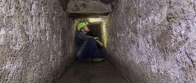 Tunel w Pompejach
