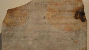 Rzymska inskrypcja wspominająca zmarłą dziewczynkę