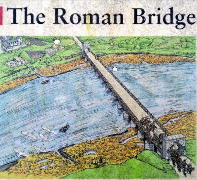 Pozostałości rzymskiego mostu w Brytanii