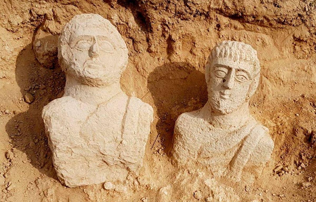 Intrygujące popiersia z czasów rzymskich w Izraelu