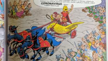 """Koronawirus w komiksie """"Asterix w Italii"""""""