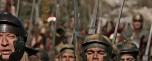Did Roman legionnaires sing songs during the march?
