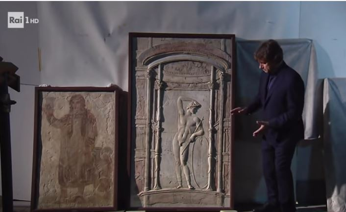 Video showing artifacts from attics of Archaeological Museum of Naples