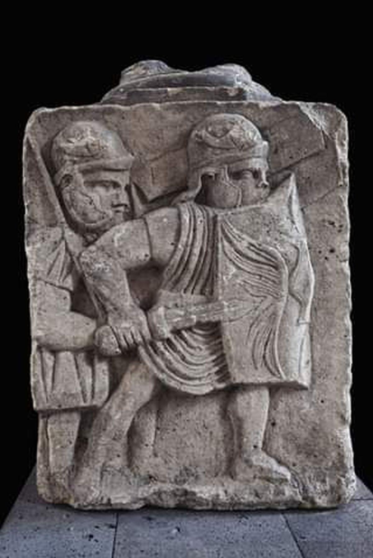 Rzymscy legioniści na reliefie