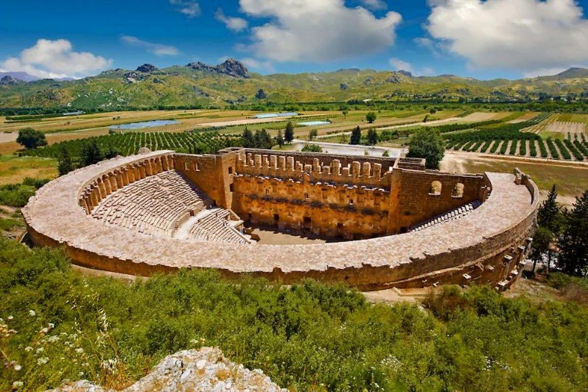 Roman theatre in Aspendos, Turkey