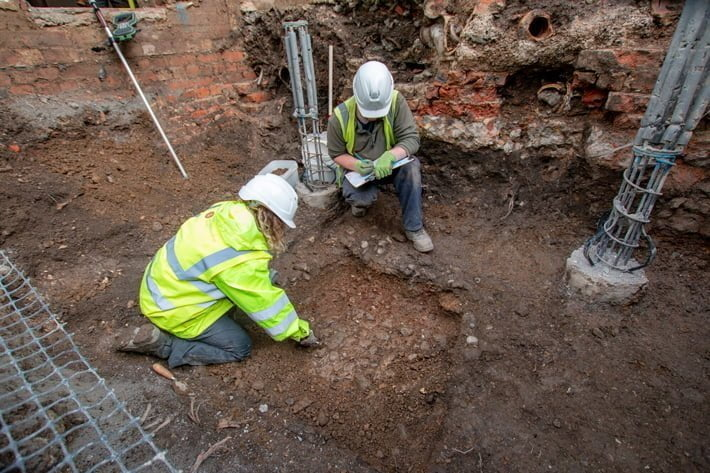 Fragment of Roman road was discovered in northern England