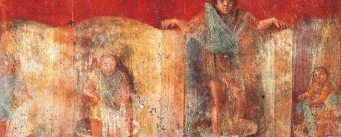Fresk ukazujący przy pracy foluszników. Malowidło znajdowało się w Pompejach, w zakładzie Veraniusa Hypsaeusa.