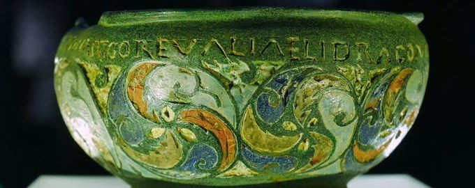 A decorated Roman vessel from Britain
