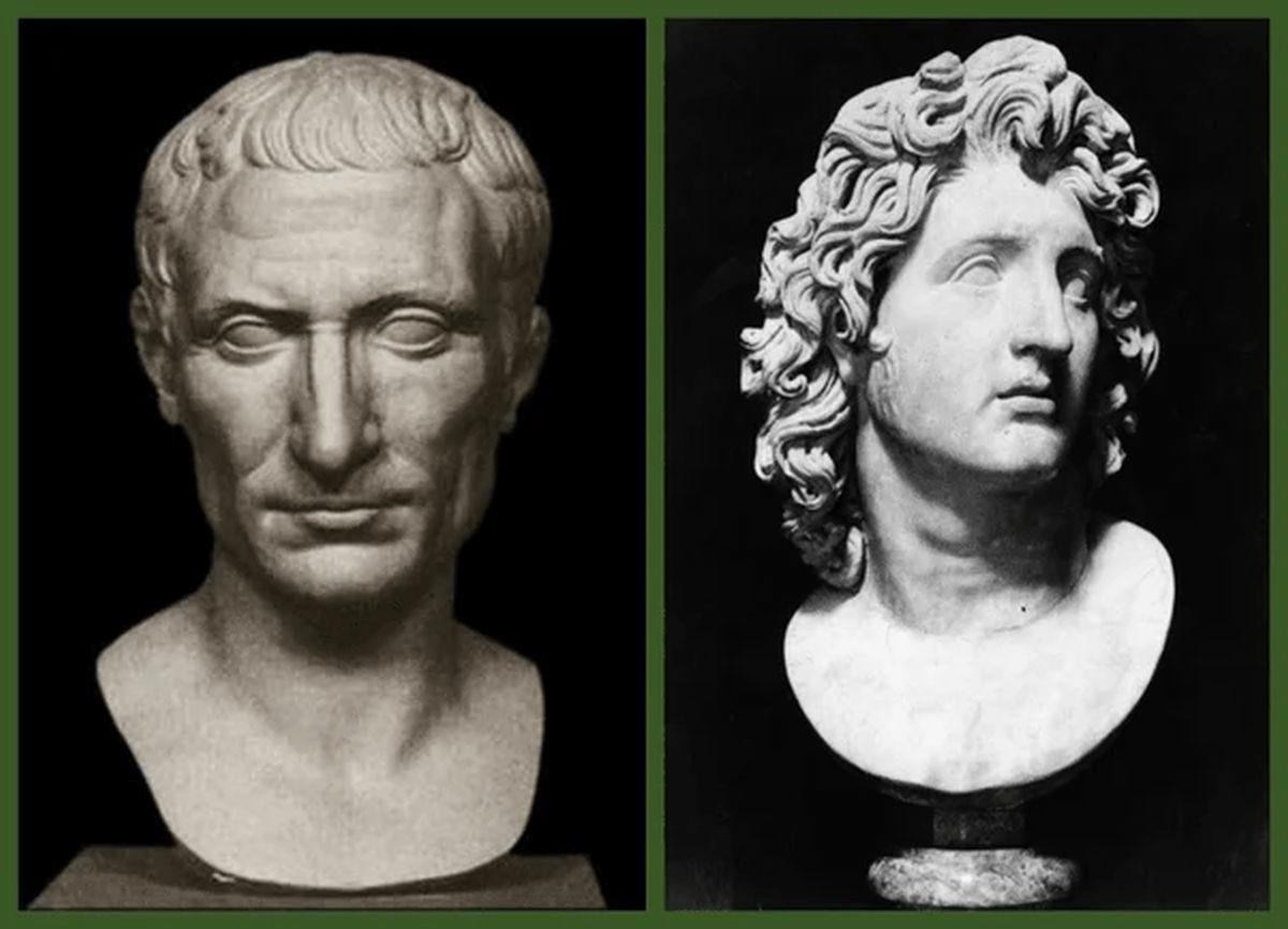 Porównanie Cezara do Aleksandra Wielkiego