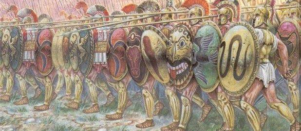 Ściana tarcz - szyk zwykle używany przez hoplitów