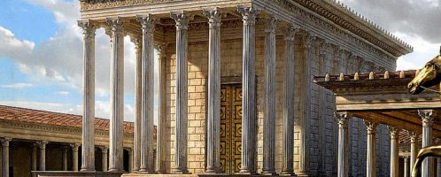 Visualization of the Temple of Venus the Mother of Mother at the Forum of  Caesar in Rome