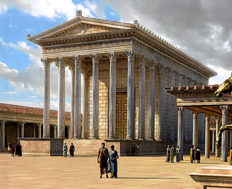 Visualization of the Temple of Venus the Mother at the Forum of Caesar in Rome