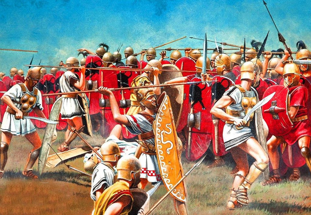 Attack of the Samnites on the Roman army