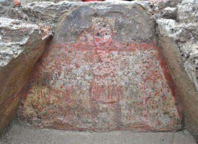 Dobry Pasterz na ścianie grobu w Sirmium