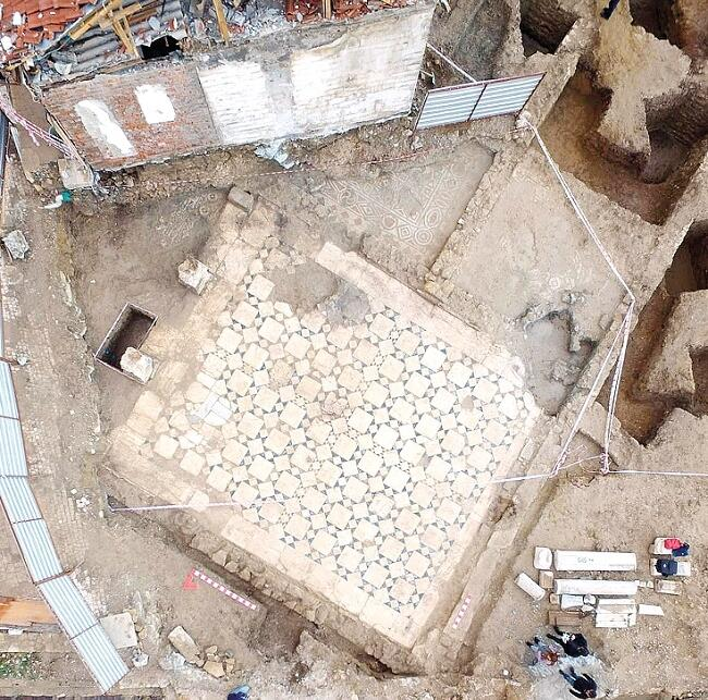 Roman mosaics were discovered in Turkey