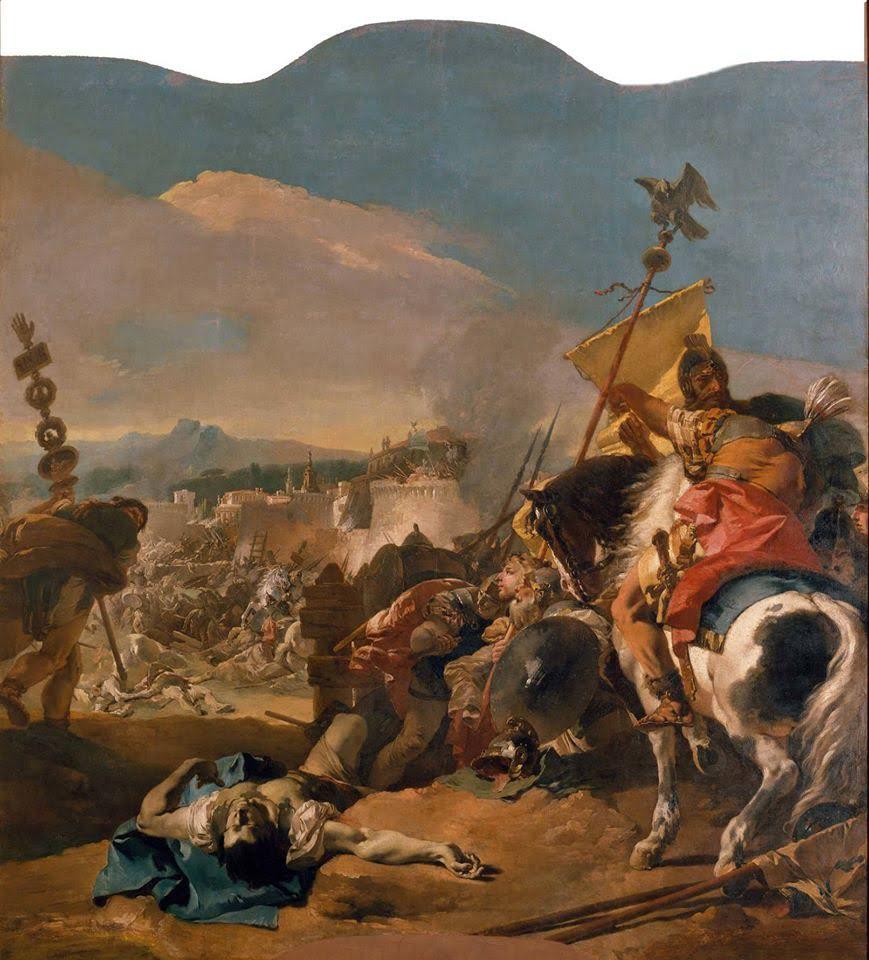 The Capture of Carthage, Giovanni Domenico Tiepolo