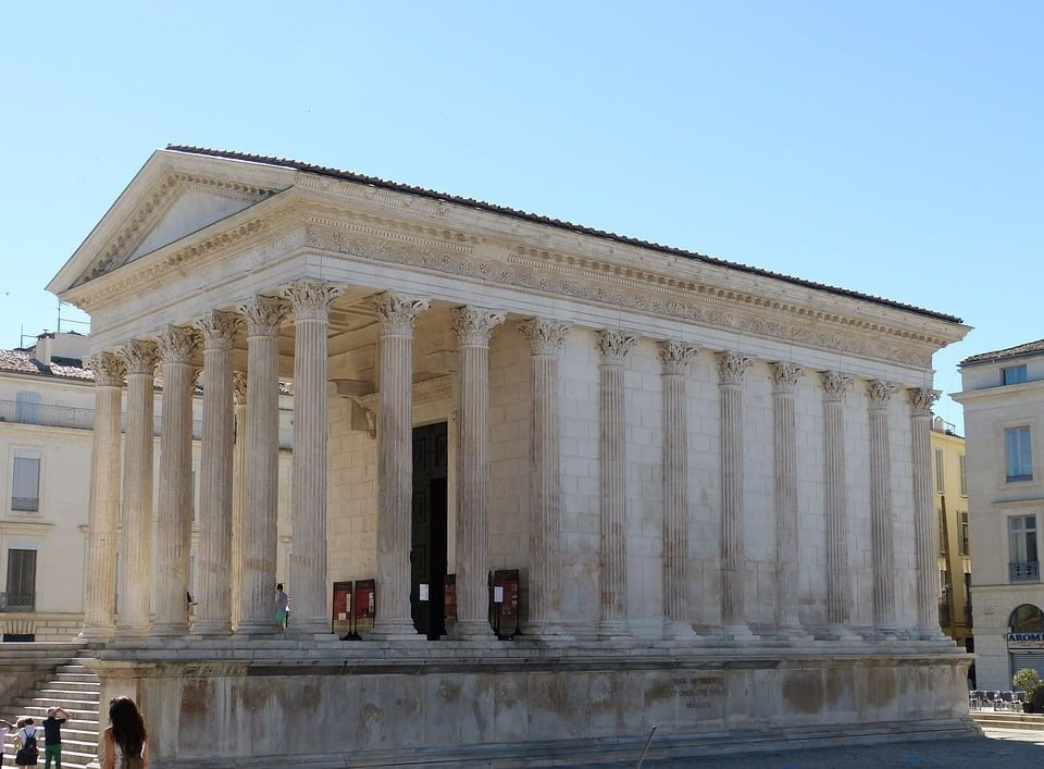 Maison Carree - Roman temple in Nimes, France