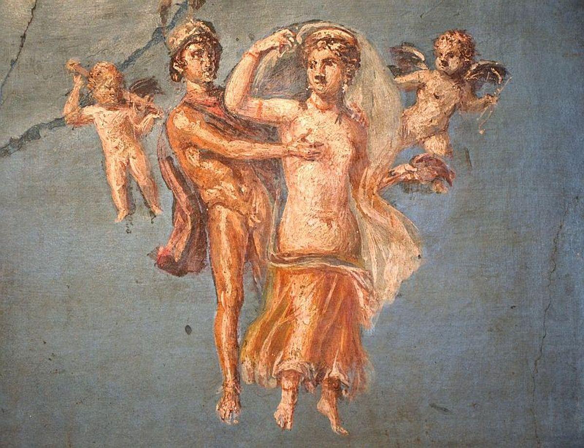 Mars i Wenus na fresku