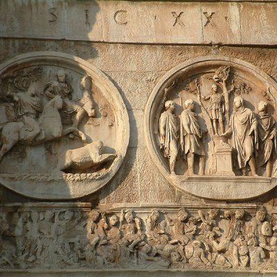Płaskorzeźby na łuku Konstantyna Wielkiego