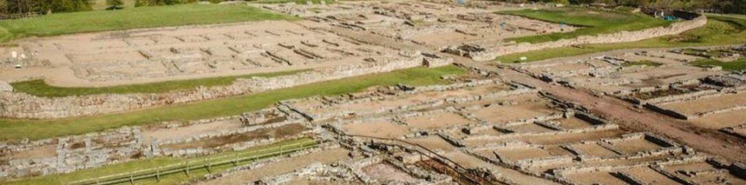 Remains of vindolanda roman camp in britain