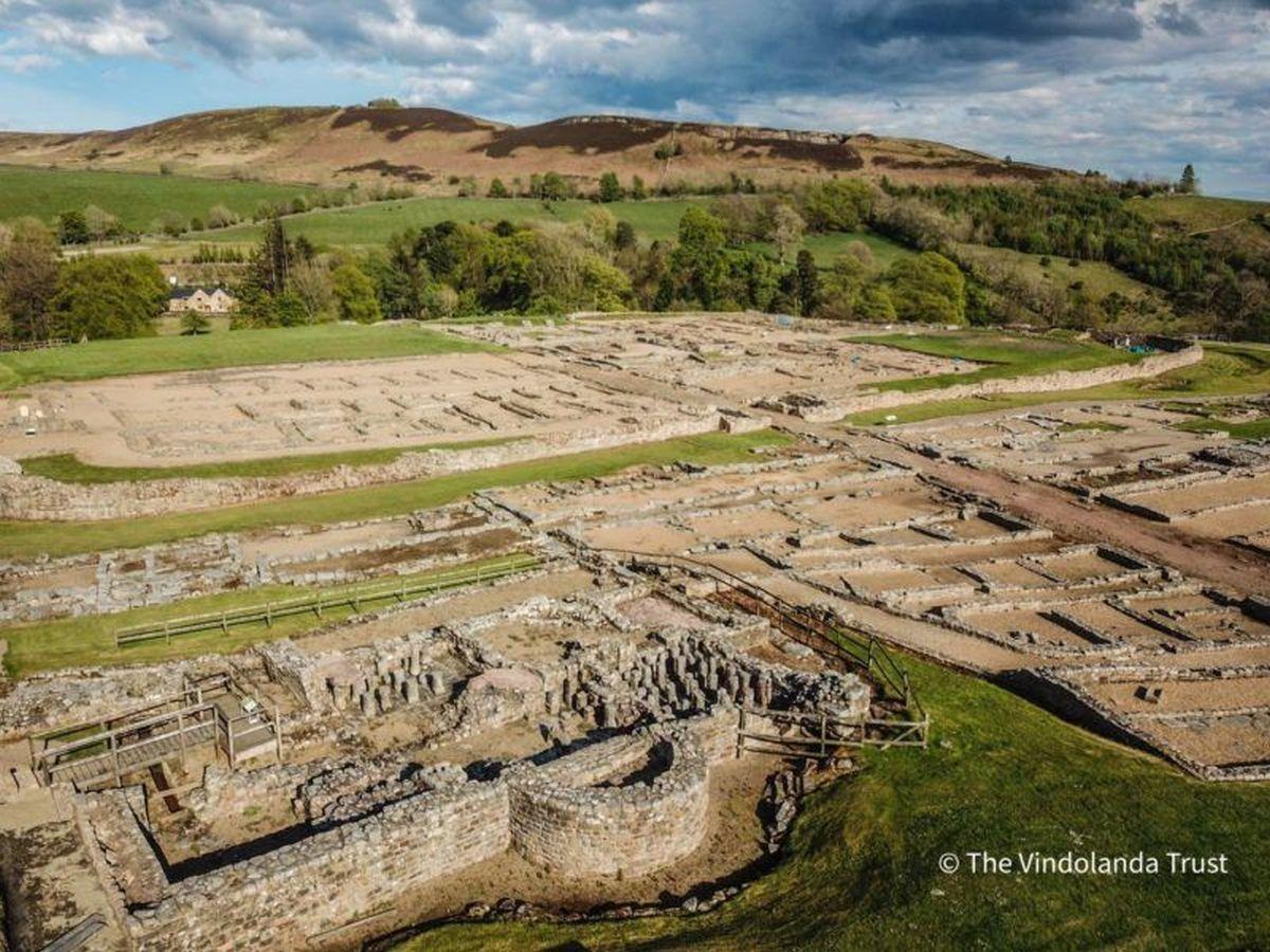 Pozostałości Vindolanda - obozu rzymskiego w Brytanii
