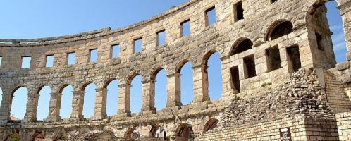 The Amphitheater in Pula Croatia
