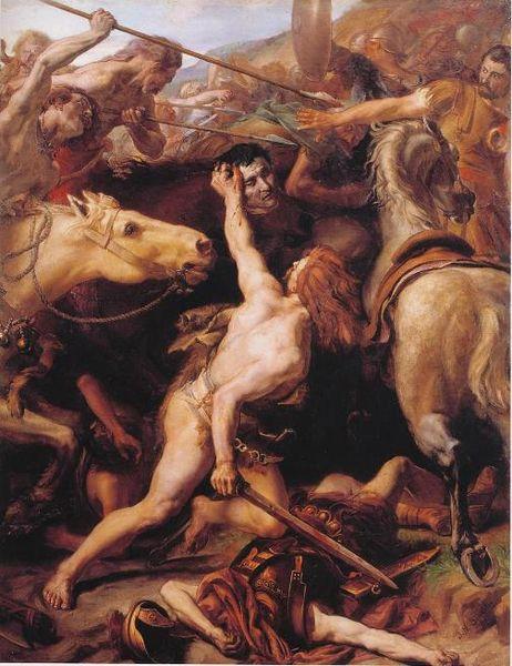 Ducarius Beheads Flaminius at the Battle of Lake Trasimene, Joseph-Noël Sylvestre