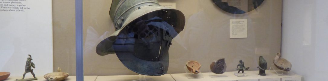 Murmillo's helmet in the British Museum