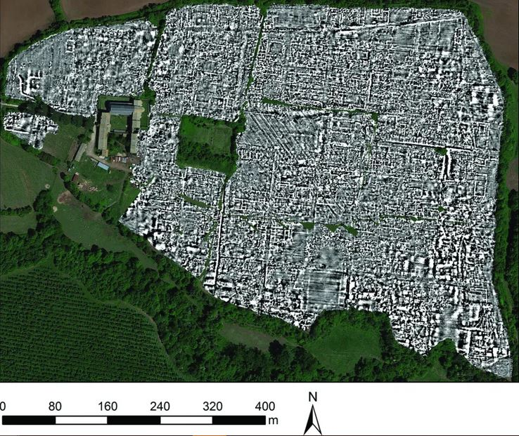 Map of the Roman city of Falerii Novi