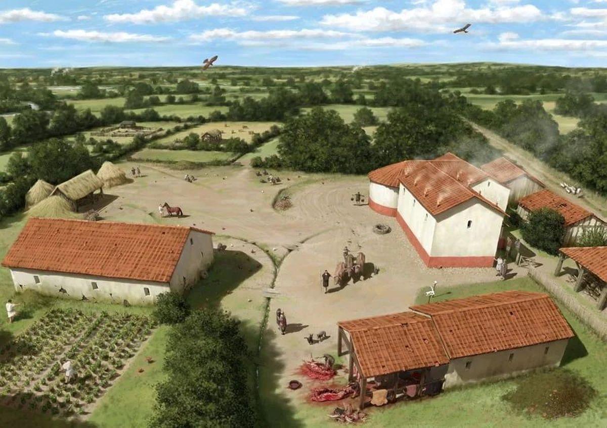 Rekonstrukcja rzymskiej posiadłości wiejskiej w Brytanii