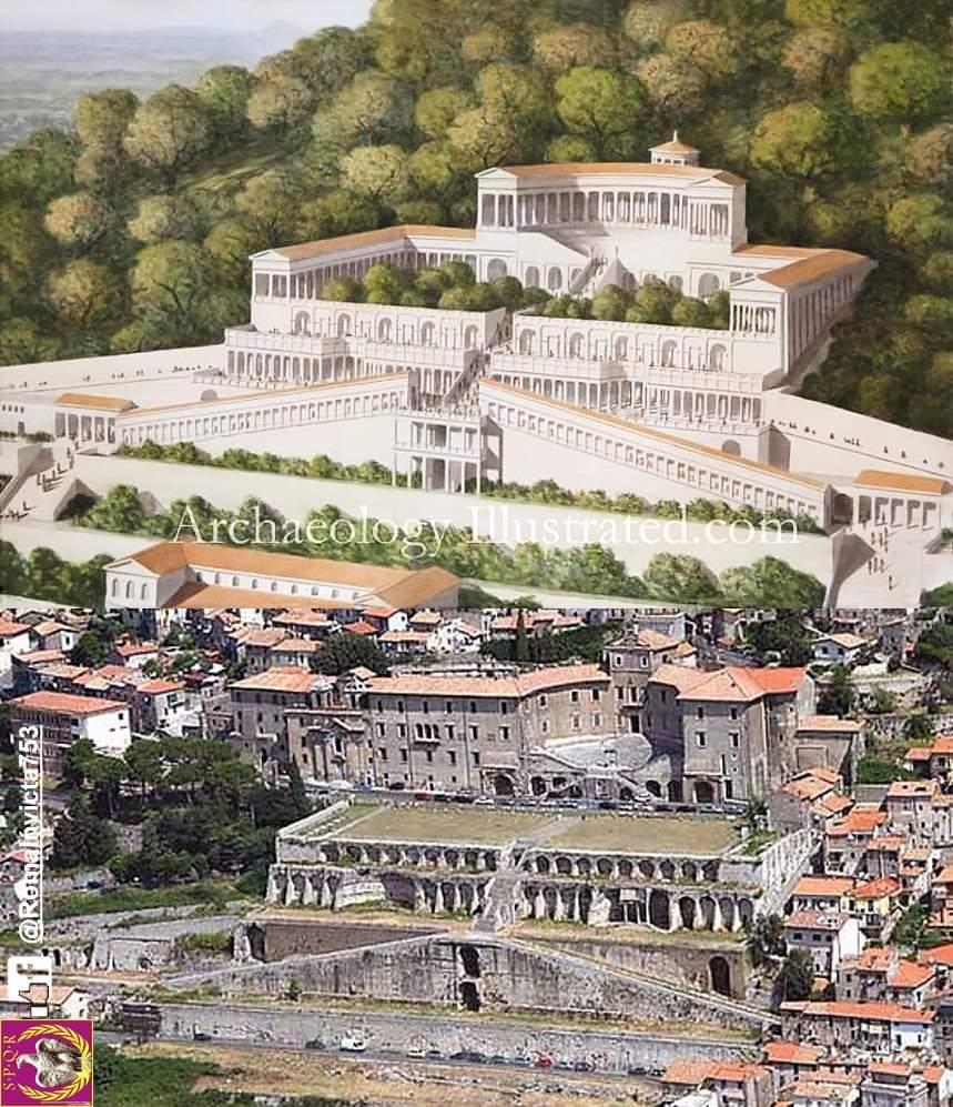 Rekonstrukcja sanktuarium Fortuny w Praeneste