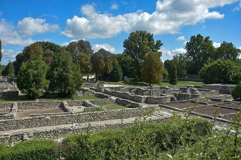 Roman wall ruins in Hungary