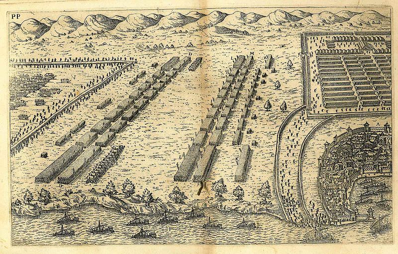 A print showing the battle of Thapsus