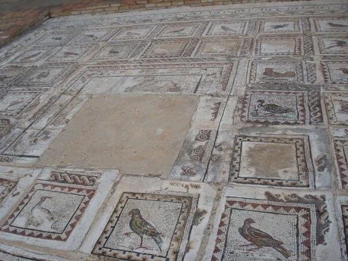 Rzymska mozaika ukazująca ptaki
